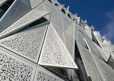 Henning Larsen's university building has a facade that moves in response to changing heat and light.