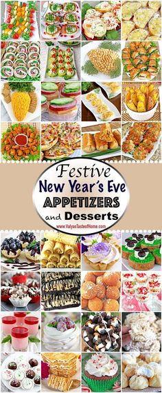 In today's post, you will find a variety of different appetizers and single serving dessert recipes pieced together to help ease your New Year's Eve party prep anxiety. So, what's on my table at New Year's Eve? Some of these simple and delicious appetizers, desserts, and a lot of hot tea! All of these absolute scrumptious appetizers and desserts will satisfy almost every late-night snacker. Give them a try! 😉| www.valyastasteofhome.com