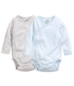 2-pack Wrap-front Bodysuits | Product Detail | H&M