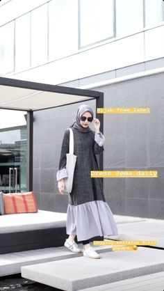 Casual Hijab Outfit, Hijab Chic, Ootd Hijab, Casual Outfits, Fashion Outfits, Street Hijab Fashion, Abaya Fashion, Muslim Fashion, Korean Fashion