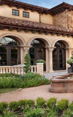 Tuscan design – Mediterranean Home Decor Tuscan Design, Mediterranean Home Decor, Tuscan Style, Mediterranean Architecture, Spanish Style Homes, Spanish House, Home Design Decor, House Design, Interior Design