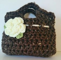 Hand crocheted pretty little girl purse in by ChildCrochet on Etsy, $19.00