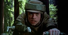 Luke Skywalker on a Speeder Bike! #starwars