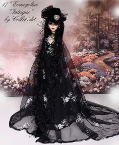 """2012 EVANGELINE GHASTLY OOAK GOWN OUTFIT """"INTRIGUE"""" BY COLLET-ART 
