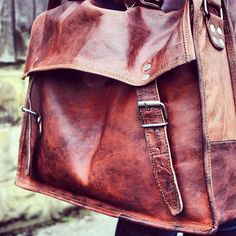 #rutbag vintage style leather satchel