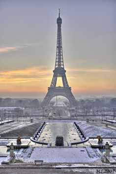 In Pari Winter Eiffel Tower | Paris in Winter - Good Morning - Eiffel Tower -0173 - HDR photo ...