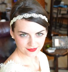 Rhinestone Bridal Headband, Sparkly Wedding Hairband, Diamante Halo by Jill's Boutique on Etsy on Etsy, $58.00