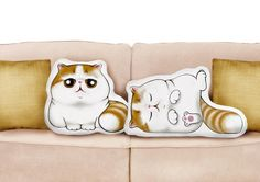 "Cushions & pillows – Snoop Cat Katze Kissen Plüsch wie ""Snoopy ... – a unique product by Canufactum on DaWanda"