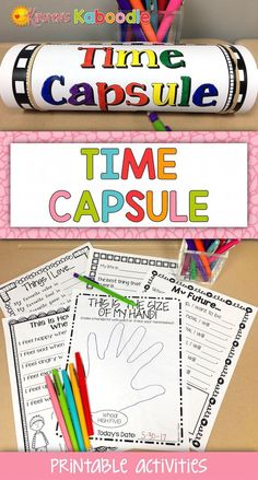First Day Last Day Time Capsule | Beginning of Year Time Capsule Activity
