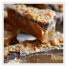 Peanut butter toffee by Little Bits of Toffee #candies #desserts