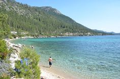 Lake Tahoe's Hidden Beach is just south of Incline Village, Nevada. Amazing turquoise water that will leave you breathless.  TahoeActivities.com