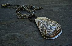 Royal Web Turquoise Necklace/ Mixed Metal by DeborahLeeTaylor