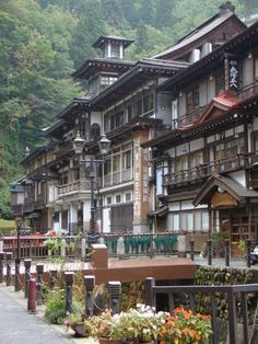 Ginzan-onsen, Obanazawa, Yamagata, Japan My dads mission! Yamagata, Japanese Architecture, Beautiful Architecture, Art Asiatique, Visit Japan, Japanese House, Brunei, Japanese Culture, Kyoto