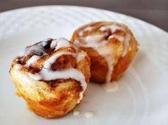 Wake and Bake: Mini Muffin Tin Cinnamon Rolls (Serious Eats) Overnight Cinnamon Rolls, Mini Cinnamon Rolls, Serious Eats, Smoothie, Cinnamon Cream Cheeses, Round Cake Pans, Mini Muffins, Snacks, Rolls Recipe