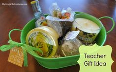 """Teacher Appreciation Gift Idea- """"thank you for making our year so bright"""" + a free printable gift tag"""