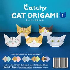 Made with ❤️ Cat Origami Vol.1 From Catchy boutique  http://catchy-boutique.com/products/catchy-origami   #papercraft #catlovers #origami #catgifts