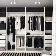 Trendy Open Closet Storage Ideas Walk In Bedroom Closet Doors, Bedroom Closet Design, Bedroom Wardrobe, Wardrobe Closet, Bedroom Storage, Master Closet, Diy Bedroom, Trendy Bedroom, Closet Mirror