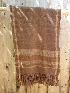 Handwoven Brown Ruana