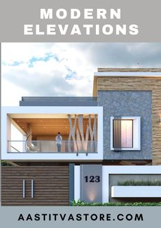 Building Elevation, House Elevation, Exterior Design, Interior And Exterior, Modern House Plans, Modern Houses, Jewelry Store Design, Ceiling Design Living Room, Latest House Designs
