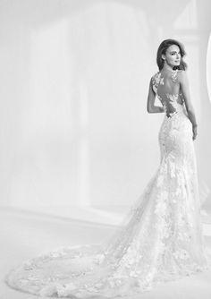 Featured Dress: Pronovias; Wedding dress idea.