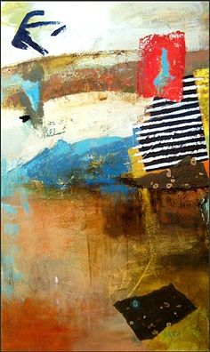 Collage Study I  2011 ~ Acrylic on canvas~60 x 36 inches  $3000