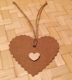 Set of 10 Heart Gift Tags/ Christmas Gifts/ by OffbeatOccasion