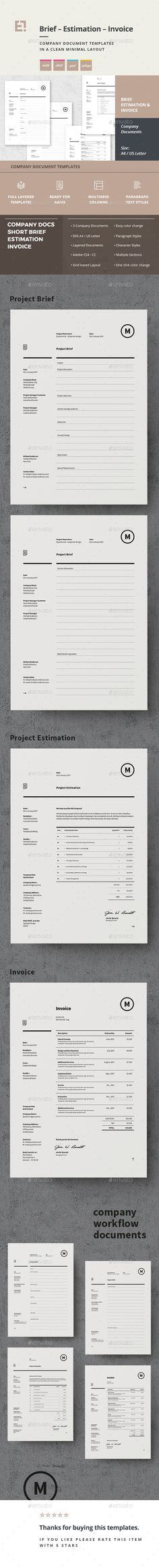 Invoice Desgin Template Proposals, Illustrators and Photoshop - project brief template