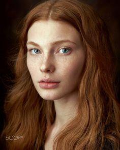 Dasha by Alexander Vinogradov / 500px Photo Portrait, Female Portrait, Girl Face, Woman Face, Ginger Models, Female Character Inspiration, Ginger Girls, Face Photography, Model Face
