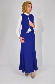 MarkaÂlâ 1333 YELEK-ETEK TAKIM #tesettür #kombin #tunik #pantolon #modelleri