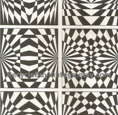 vintage 1970's optic illusion pattern art print book plate black & white pop art design retro home decor mod geometric picture wall 81 82 by RecycleBuyVintage on Etsy