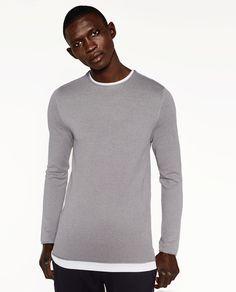 0844ba63d04 MOCK LAYER SWEATER from Zara £25.99 Sweater Layering