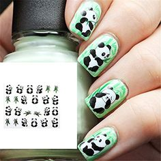 Panda nail art! Stickers for $2.86 from pandathings .com