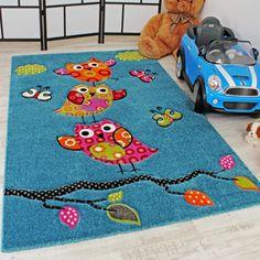 Kinder Teppiche Spielende Eulen Teppiche Für Kinderzimmer In Creme ... Babyzimmer Orange Grn