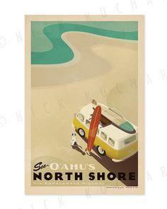 Poster North Shore by EverythingIsJake via Etsy