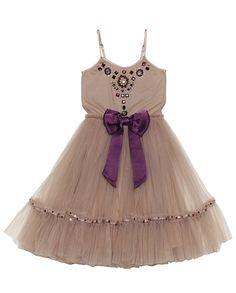 Tutu Du Monde Little Gem Tutu Dress In Taupe || Igloo Kids Clothing