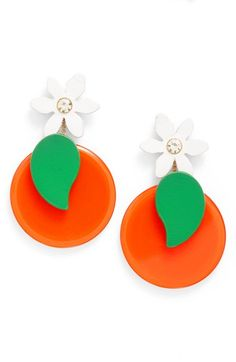 Orange you glad about these statement earrings?