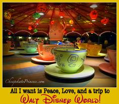 All I want is Peace, Love, and a trip to Walt Disney World!