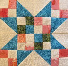 El Quilt Ladies Book Collection: Edredón de la estrella del bloque del Mes # 21