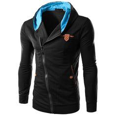 2016 Fashion New Oblique Zipper Style Men Hoodies Autumn Clothing Slim Fit Poleron Hombre Plus Size M-3XL Assassins Creed Hoodie //Price: $34.00 & FREE Shipping //     #assassinscreedmovie