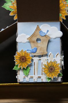 Card in a Box- Sunflowers sides