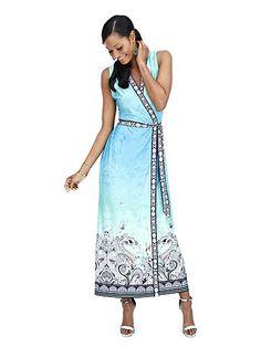 Multiprint Maxi Dress  - New York & Company