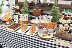 Brittany F's Birthday / Wild One - Photo Gallery at Catch My Party Rustic Birthday Parties, 50th Birthday Party Decorations, Boys First Birthday Party Ideas, Wild One Birthday Party, Bear Birthday, Themed Parties, Table Decorations, Spongebob Birthday Party, Babyshower
