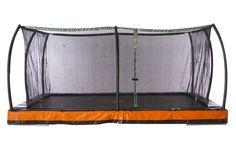 Inground 12' x 8' Rectangle Trampoline & Safety Net Enclosure Combo