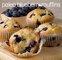 Hands down, best Paleo blueberry muffin recipe out there! These are amazing!! From PaleOMG