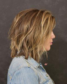 Collar Length Bob Cut by Jesse Wyatt  #hair #haircut #bobcut #jessewyatt