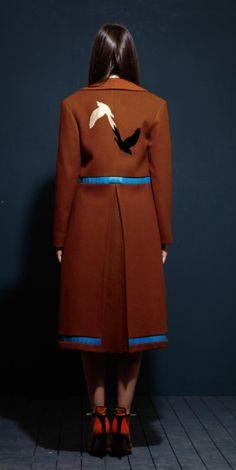 Suede Overcoat Jacket on TROVEA.COM