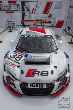Top View Audi R8 LMS