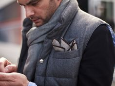 Wool Vest & Pocket Square