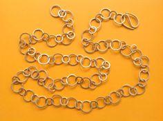 Ketten lang - Gliederkette Silber Vergoldung Kette lang - Rings - ein…