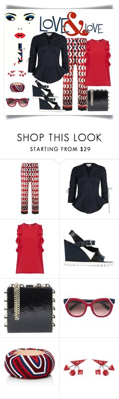 """""""For Restless Sleepers Geometric Print Cropped Trouser Look"""" by romaboots-1 ❤ liked on Polyvore featuring F.R.S For Restless Sleepers, Monse, Warehouse, Jil Sander, Dsquared2, Salvatore Ferragamo and Mola SaSa"""